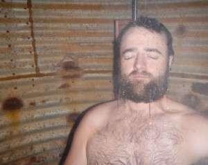 Kurt enjoying a piping hot long shower