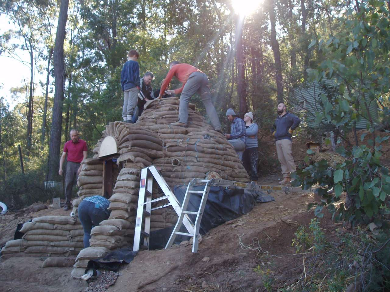 Eco-structures built at Permaculture Sydney Institute