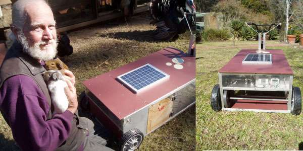 PSI's Solar Powered Guinea Pig Lawn Mower