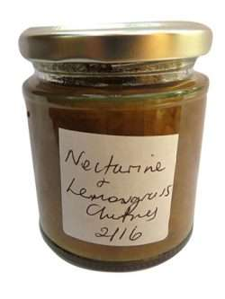 Nectarine and Lemon Grass Chutney (Medium)